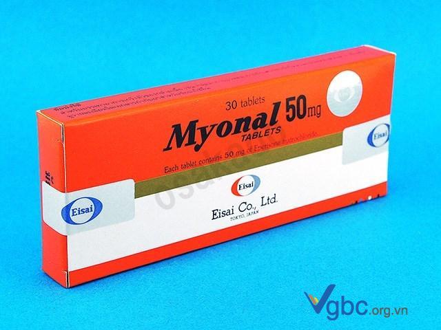 Các tác dụng phụ của thuốc Myonal với gan